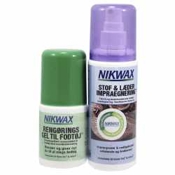 Nikwax Twinpack Fabric leather spray on + cleaning gel